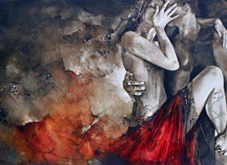 Lucía-Etxebarria-mujeres-vestidos-rojos-cuadros-modernos_2